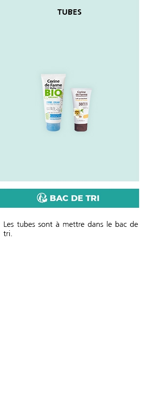 Je recycle mes tubes